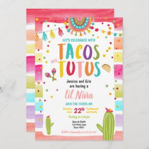 Tacos and Tutus Mexican Fiesta Couples Baby Shower Invitation