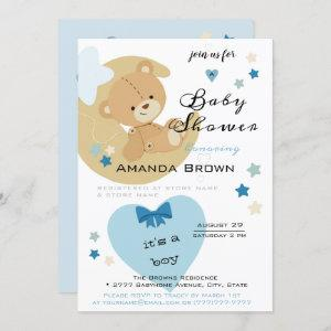 Teddy Bear Love Baby Boy Shower | Invitation