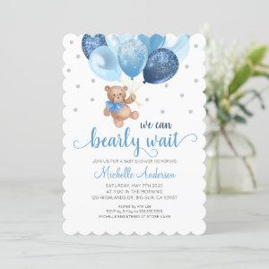 Teddy Bear We Can Bearly Wait Baby Shower