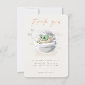 The Child   Watercolor Baby Shower Thank You Invitation