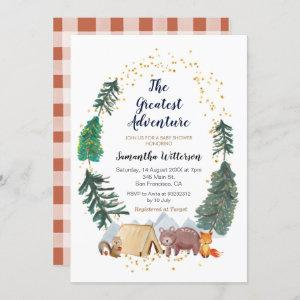 The Greatest Adventure Forest Baby Shower Invitation