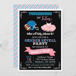 TOUCHDOWNS OR TUTUS Gender Reveal Baby Shower