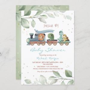 Train Dinosaurs Drive By Baby Shower