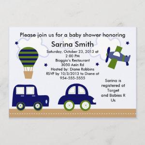 Transportation/Cambridge Baby Shower Invitations