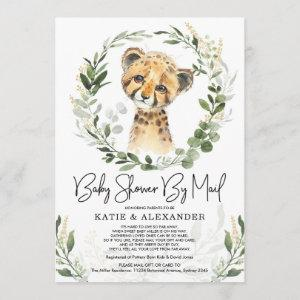 Trendy Greenery Gold Baby Leopard Shower By Mail