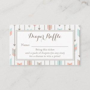 Tribal Arrows Baby Shower Diaper Raffle Ticket Enclosure Card