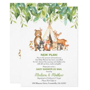 Tribal Woodland Baby Shower by Mail Greenery Boy Invitation