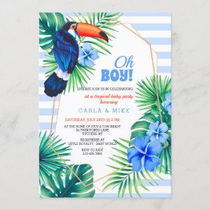 Tropical Baby Shower Blue