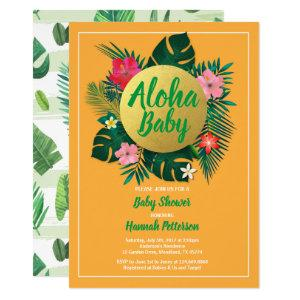 Tropical baby shower invitation gender neutral
