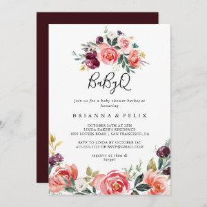 Tropical Colorful BabyQ Baby Shower Barbecue Invitation