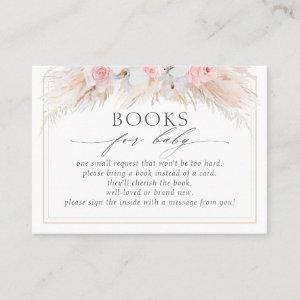 Tropical Dried Pampas Grass Baby Books Request Business Card