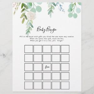 Tropical Floral Baby Bingo Shower Game