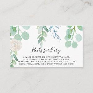 Tropical Floral Baby Shower Book Request Enclosure Card