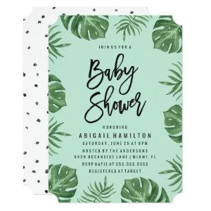 Tropical Leaves | Baby Shower Invitation