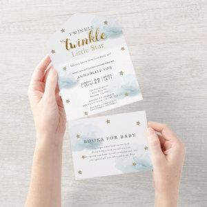 Twinkle Little Star Blue Book Baby Shower All In One