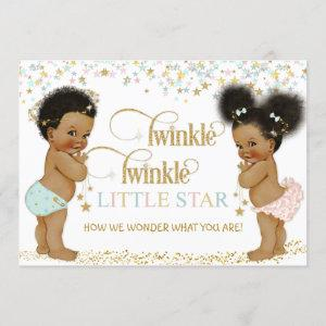 Twinkle Little Star Ethnic Baby Gender Neutral Invitation