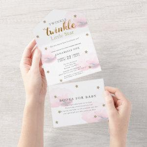 Twinkle Little Star Pink Book Baby Shower All In One