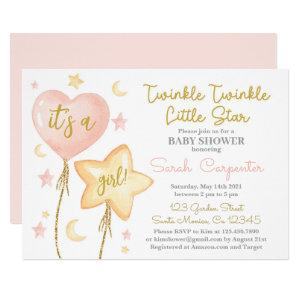 Twinkle Twinkle Little Star girl Invitation