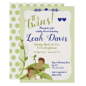 Two Peas in a Pod, Baby Boy Shower Invitations