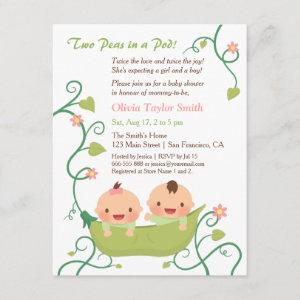 Two Peas in a Pod Twin Baby Shower