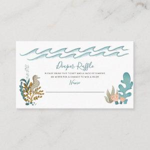 Under the Sea Ocean Animals Shower Diaper Raffle Business Card