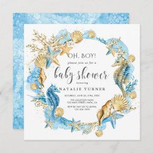 Under the Sea | Oh Boy Baby Shower Invitation