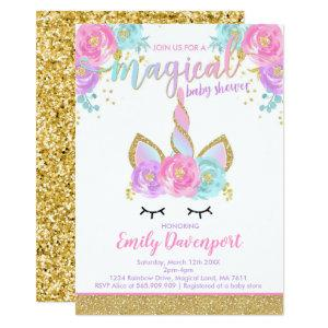 Unicorn Baby Shower Invitation Magical Baby Shower