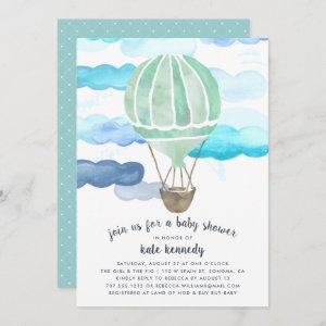 Up in the Air Baby Shower Invitation | Mint