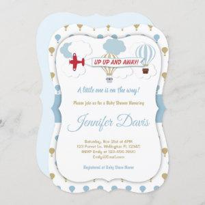 Up Up And Away! Baby Shower Invitation