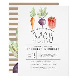 Veggie Patch | Watercolor Baby Shower Invitation