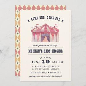 Vintage Circus Baby Shower Invitation