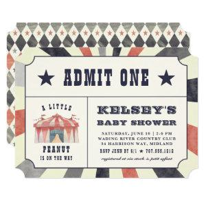 Vintage Circus Ticket Baby Shower Invitation