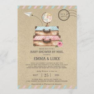 Vintage Long Distance Baby Shower by Mail Suitcase