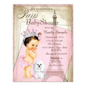 Vintage Paris Princess Baby Shower Invitation