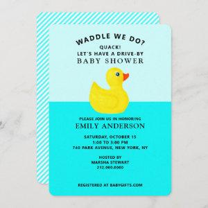 Virtual Drive-by Baby Shower Invitations