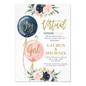 Virtual Gender Reveal Party Invitation