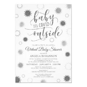 Virtual Online Baby Shower Baby Its COVID Outside Invitation
