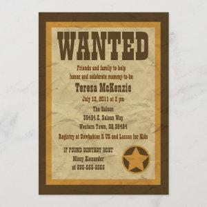 Wanted Baby Shower Invitation