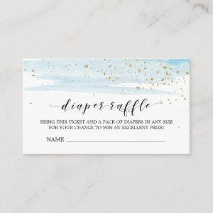 Watercolor Blue Diaper Raffle Invitation Insert