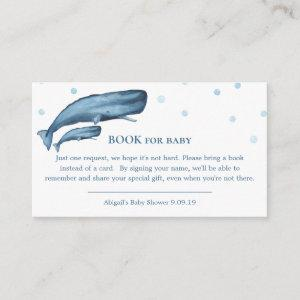 Watercolor Blue Whales Ocean Book for Baby Enclosure Card
