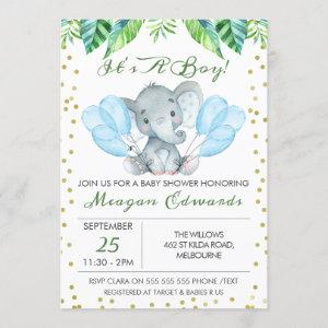 Watercolor Elephant Baby Shower