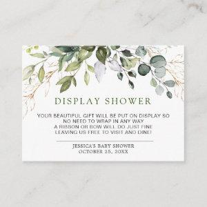 Watercolor Eucalyptus Greenery Display Shower Card