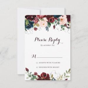 Watercolor Illustrated Fall Floral RSVP