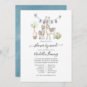 Watercolor Llama themed Baby Shower by Mail