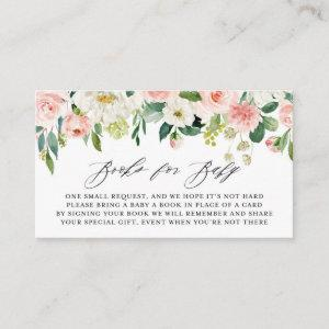 Watercolor Pink Peach Floral Garland Book Request Enclosure Card