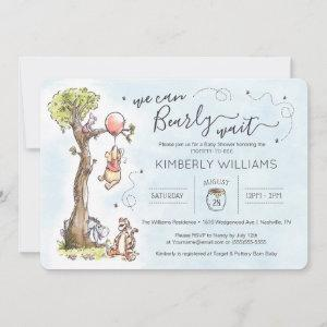 Watercolor Pooh | We Can Bearly Wait Baby Shower I
