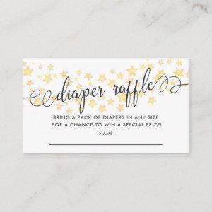Watercolor Stars Baby Shower Diaper Raffle Ticket Enclosure Card