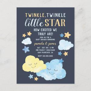 Watercolor Twinkle Twinkle Little Star Baby Shower Invitation Postcard
