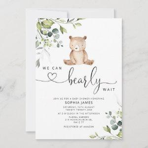 We can bearly wait baby shower