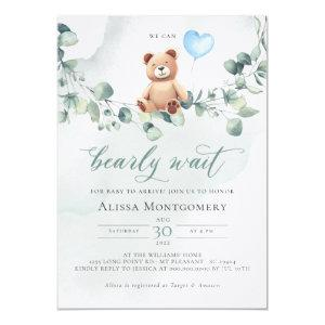We Can Bearly Wait! Baby Shower Invitation